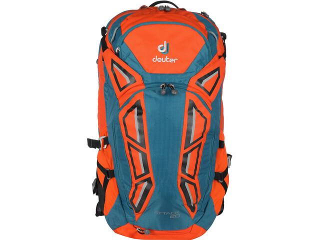 neueste outlet beliebte Geschäfte Deuter Attack 20 Protector Backpack papaya-petrol